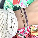 Black Diamond Bracelet In Blue, Orange And Beige Tones image