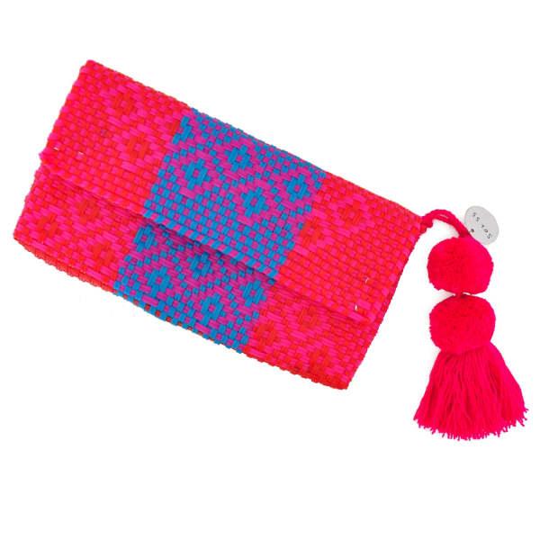 SOI 55 Conchita Mexican Beach Clutch Purse Rosa