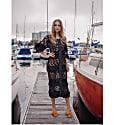 Black Sundown Handmade Knit Cardigan-Dress image
