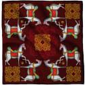 Kalighat Horse Silk Scarf Maroon image