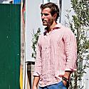 Sardegna Stripes Polera Shirt In Red image