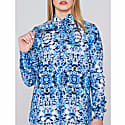 Nadia Silk Shirt Japan Marble image