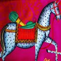 Kalighat Horse Classic Silk Scarf Collection image