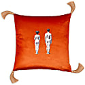 Models Velvet Cushion Burnt Orange image