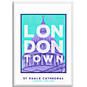St Paul'S Cathedral London Town Series A3 Print image