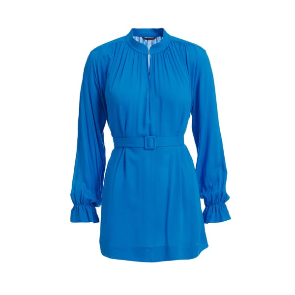 Wtr  WtR Blue Belted Tunic Blouse