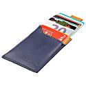 Slim Vegan Card Holder – Blue/Camel image