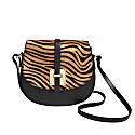 Zebra Scuro Print Saddle Bag image