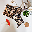 Matching Clutch & Purse Gift Set In Leopard Print Pony Hair Leather image