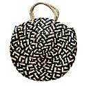 Eliza Round Tote Black Pattern image