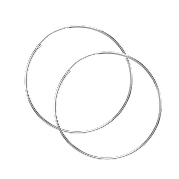 LATELITA LONDON Sterling Silver Large 5cm Hoop Earrings