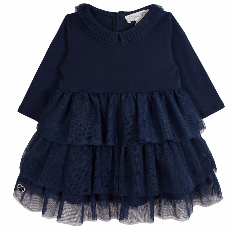 0cf4dd583e2 Girls French Designer Ballerina Dress Navy Blue (10 Yrs)