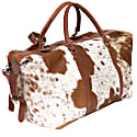 Leather Long Armada Duffle Large Weekend / Overnight Holdall Bag - Animal Print Pony Hair image