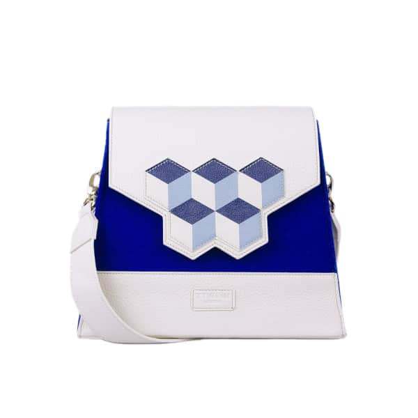 TTWINN LONDON Jennifer Shoulder Bag In Navy Blue