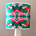 Flamingos & Flowers Abstract Lampshade image