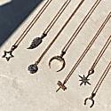 Diamond Star Burst Necklace Rosegold image