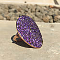 St Tropez Ring Rosegold Amethyst Zircon image