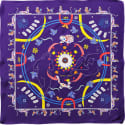 Cyclades Silk Scarf Animal Kingdom Purple image