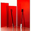 Apriori Slim Carmine Red Silver Medium Toothbrush image