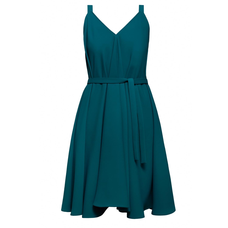 e06085ca917b UNDRESS - Aliferous Jade Strappy Flared Occasion Guest Midi Dress ...