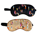 Fashion Sketch Social Distance Print Sleep Masks- Set Of 2 image