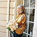 Mariana Gold Silk Blouse image