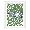 Tropical Zebra Art Print image