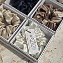 Organic Premium Silk Scrunchie - Light Grey image