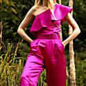 Sunrise Culottes Pink Satin image