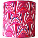 Fuchsia Shell Velvet Lampshade image