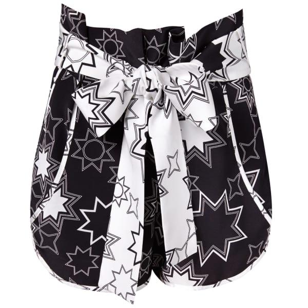 SIOBHAN MOLLOY Lottie Black Star Print Shorts