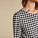 Emi Dress in Black & White Gingham image