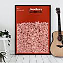 Life On Mars - Song Lyric Print image