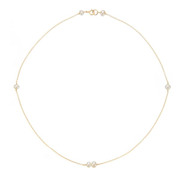 LILY & ROO Gold Six Pearl Necklace