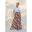 Miszla Stripes Print Wide Leg Trousers image
