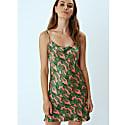Silke Midi Slip Dress in Pink Cactus Print image