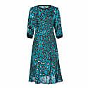 Midi Silk Dress with Print image