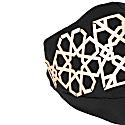 Lili Face Mask - Gold On Black image
