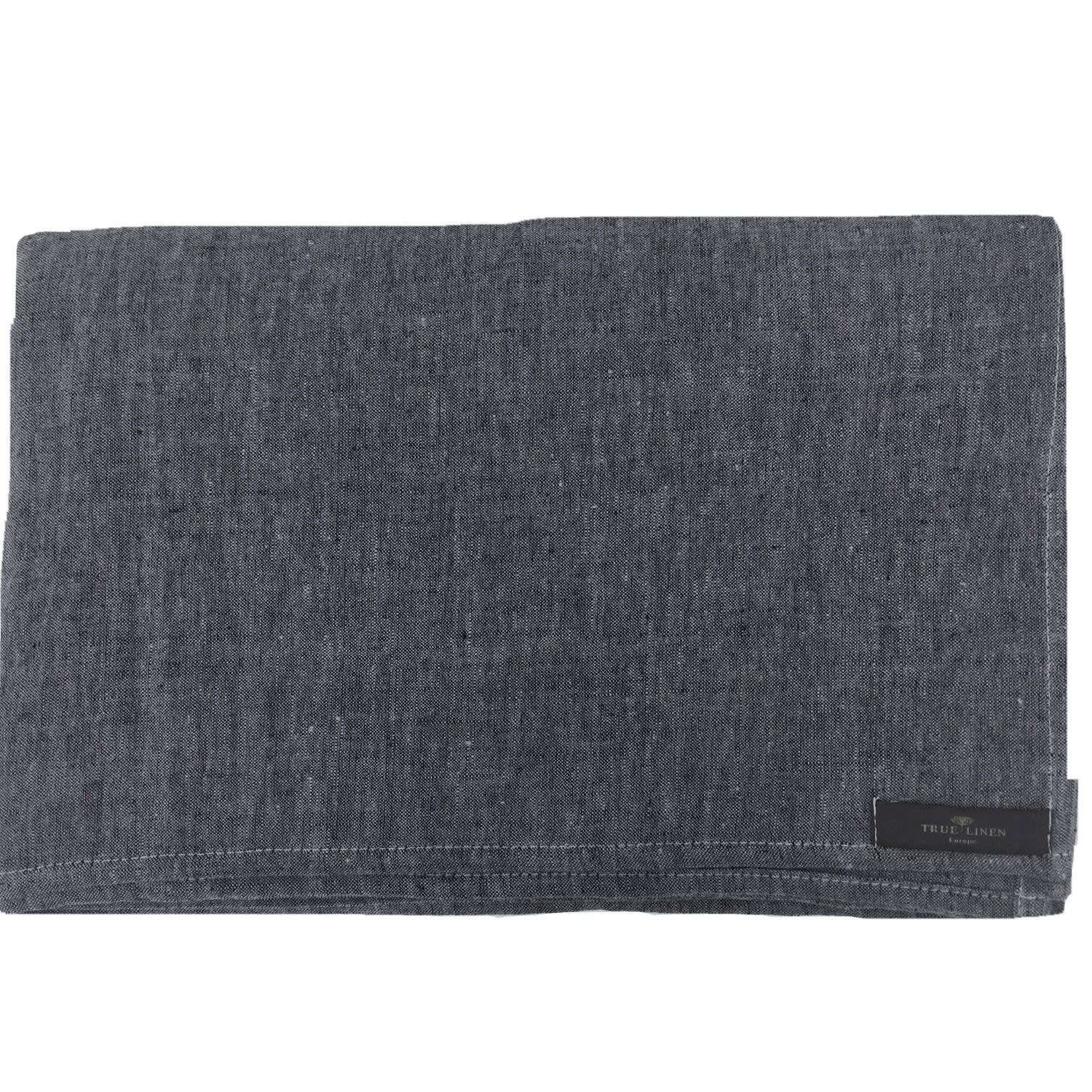 Washed Linen Charcoal Grey Tablecloth