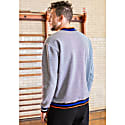 Denim Knit Wolf Sweatshirt image