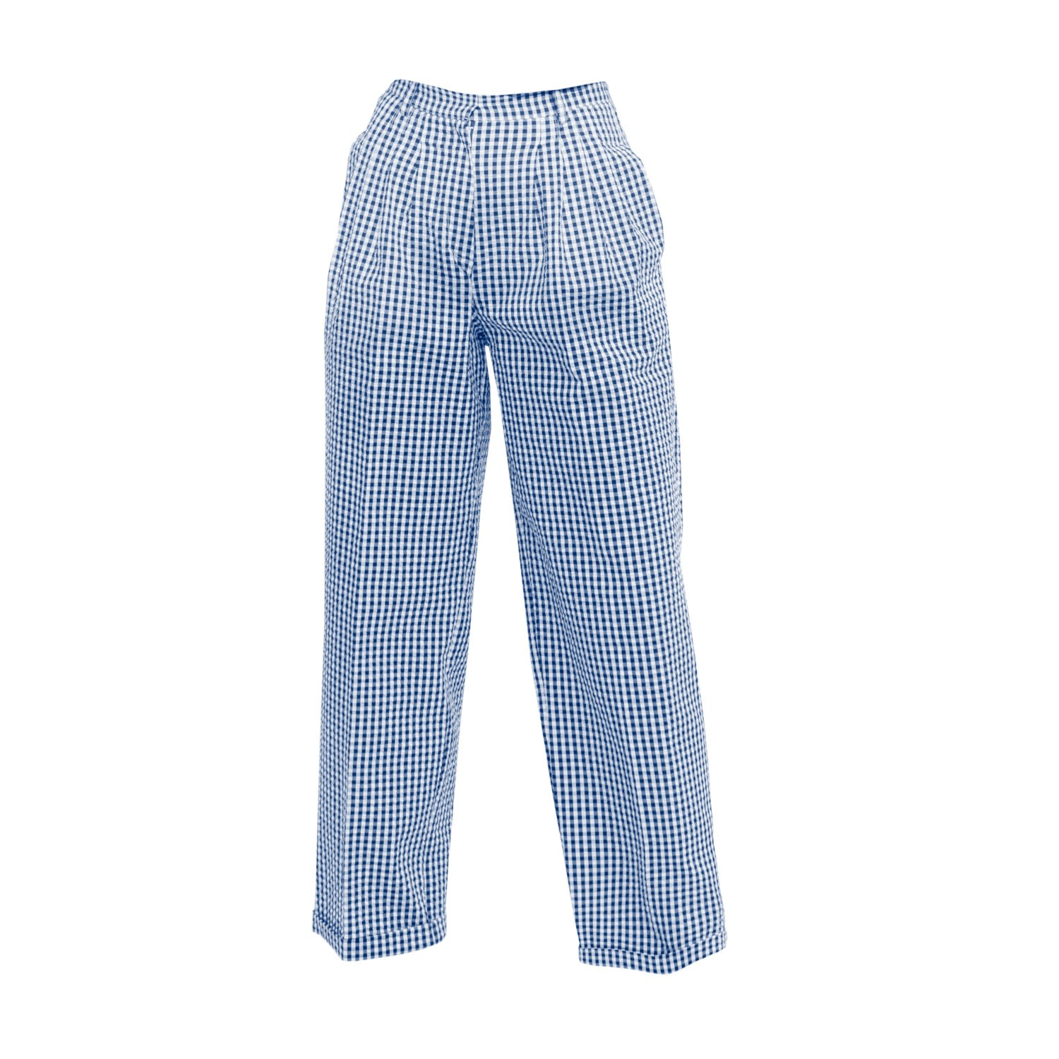 Tomcsanyi - Toalmas Blue & White Multi Pleat Trousers