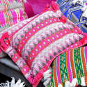 Bedawi Pink Cotton Cushion image