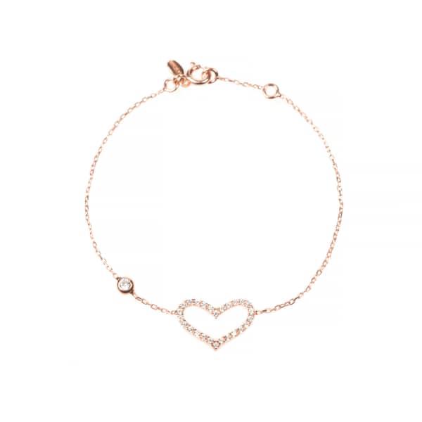 Open Heart Bracelet Rosegold