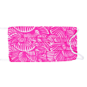 Reusable Face Mask - Seashell Summer In Hot Pink image