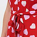 Kendra Big Heart Batik Shirt Dress image