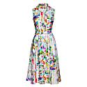 Button Detail Floral Print Dress image