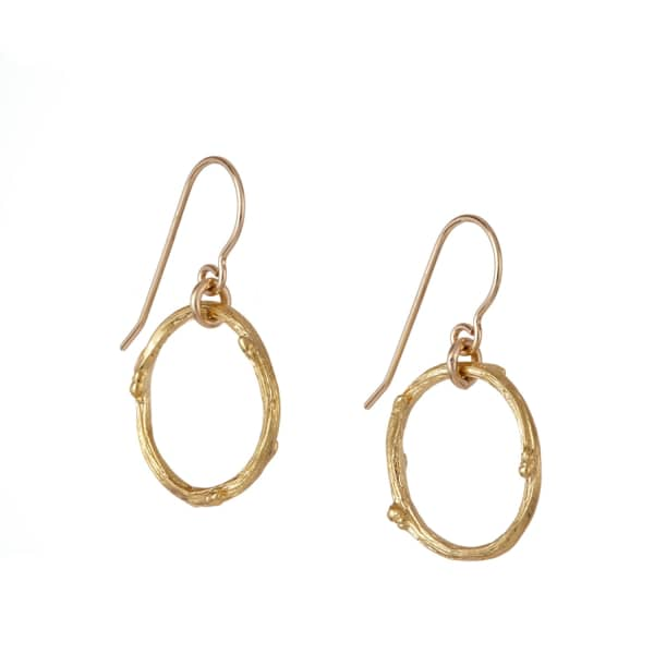 CHUPI Hawthorn Twig Infinity Earrings Gold