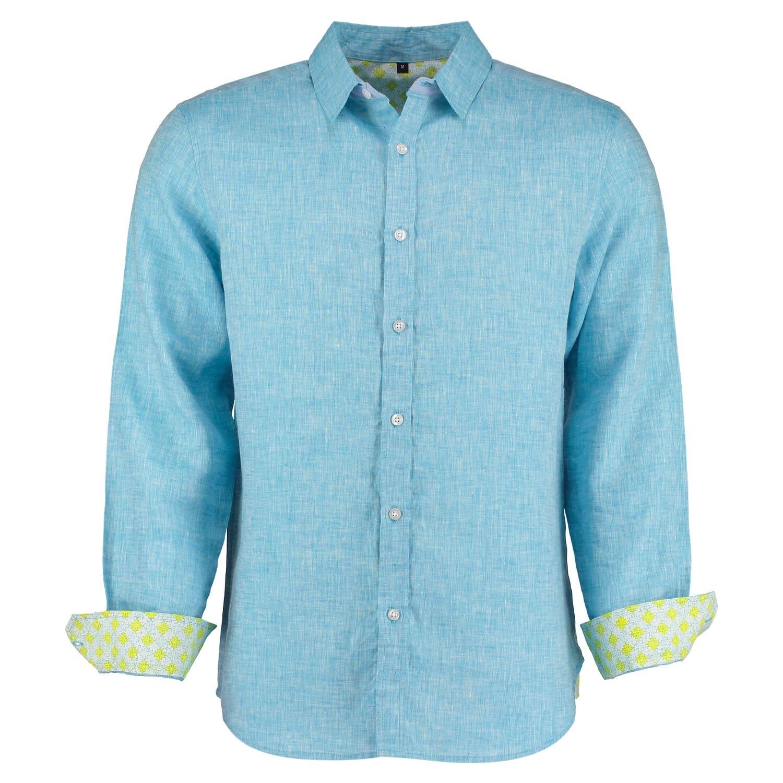 433878d42b7 Karnatake Light Blue Linen Shirt image
