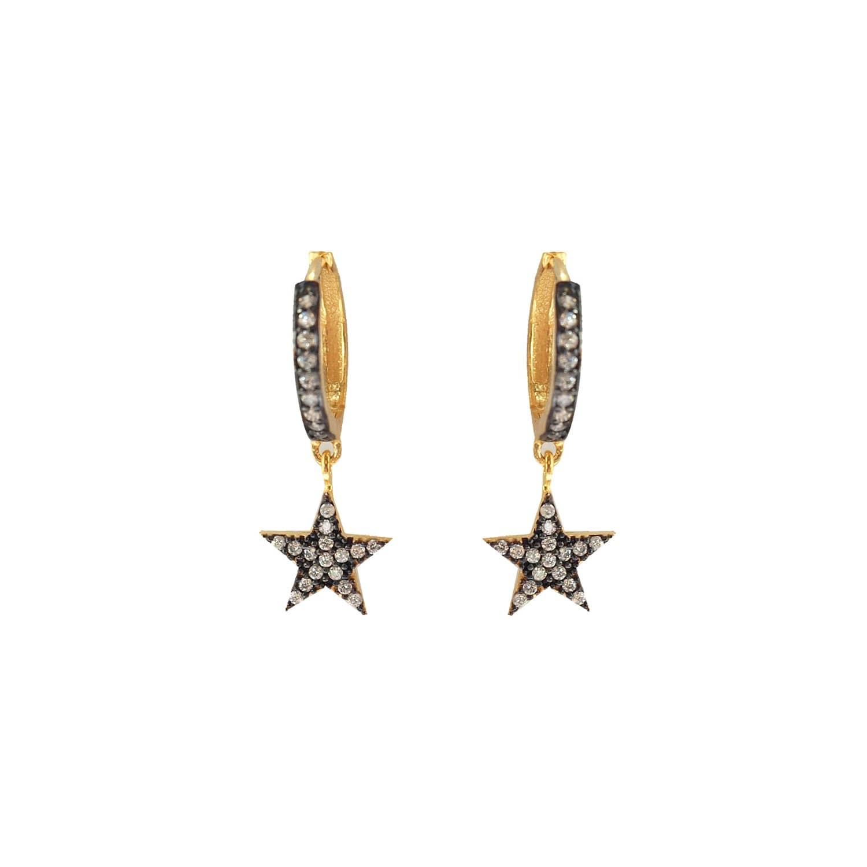 b75e41f3fbe95 Star Mini Hoop Huggie Earrings Gold by Wild Hearts
