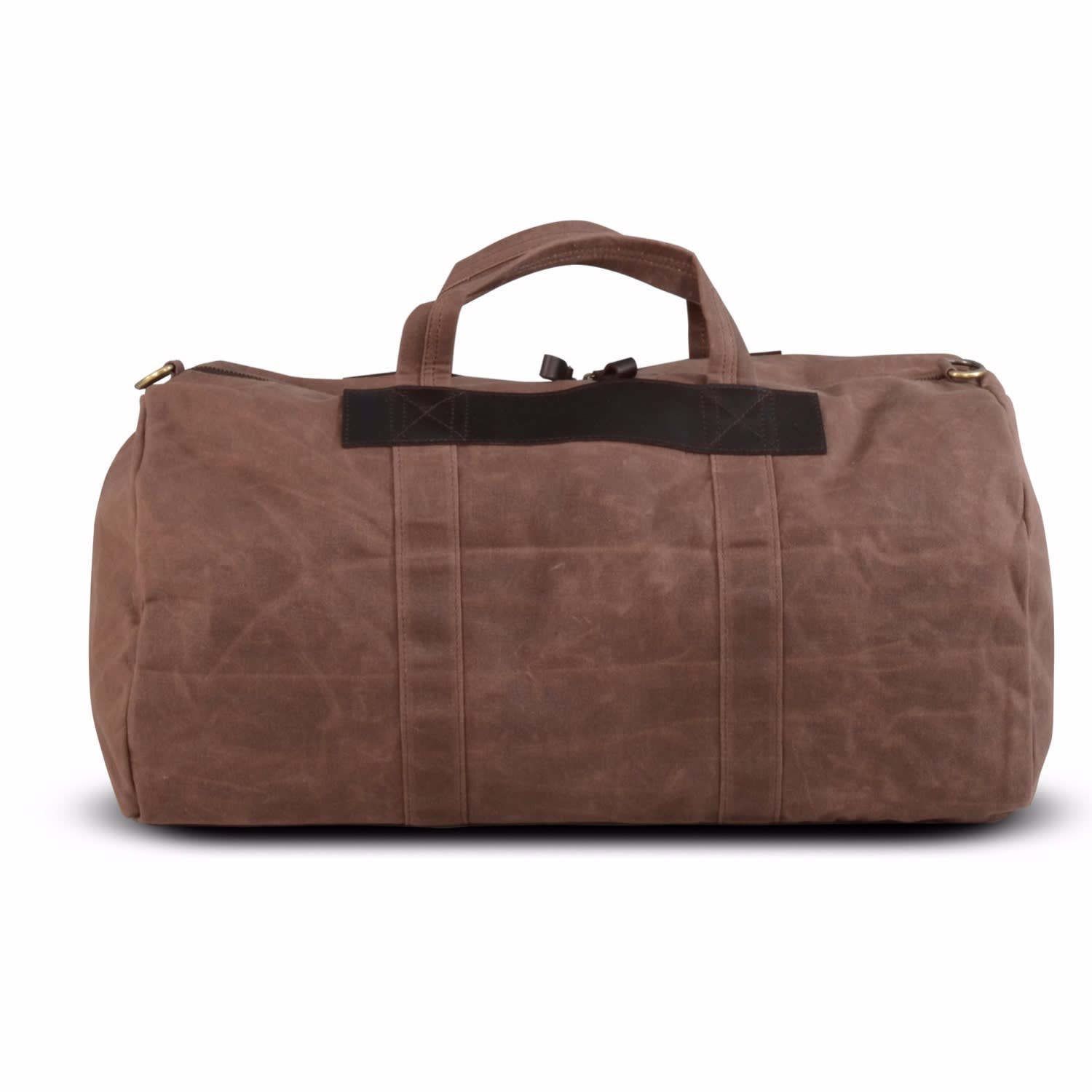 e1298c591979 Waxed Canvas   Leather Duffle Bag image
